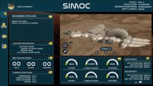 SIMOC dashboard sketch by Greg Schober- Phase II