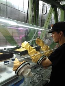 SIMOC at Biosphere 2 - Kai Staats watering barley