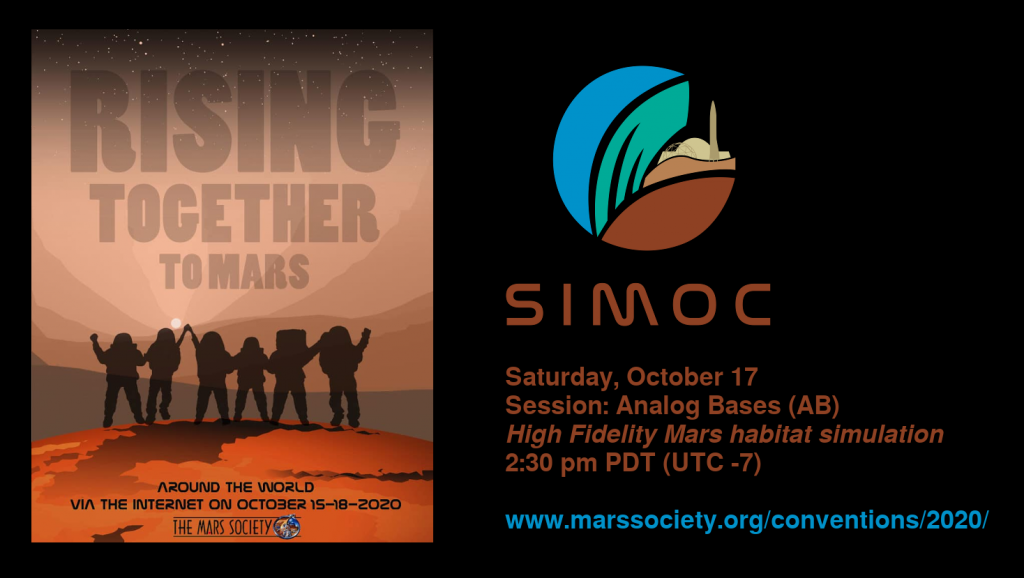 SIOMC at Mars Society Convention 2020