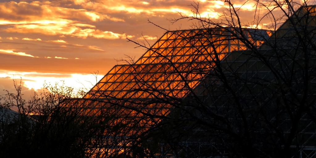 Sunset over the Biosphere 2 by Kai Staats