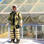 Biosphere 2 Deputy Director John Adams conduct pressure suit test at SAM