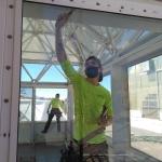 Window tint, SAM at Biosphere 2